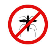 No mosquito icon. On white background Royalty Free Stock Image