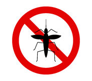 No mosquito icon. On white background Stock Photography