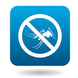 No mosquito sign icon, simple style Royalty Free Stock Photos