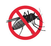 No mosquito sign  on white background. Royalty Free Stock Photography
