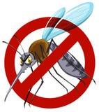 No mosquito sign on white Stock Photo