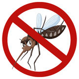 No mosquito sign on white Stock Image