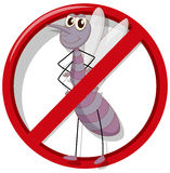 No mosquito sign on white. Illustration stock illustration
