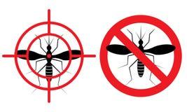 No mosquitos sign. Vector illustration. Stock Photos