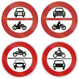 No Motor Vehicle Signs In Germany Stock Photos