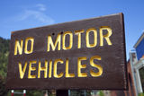 No motor vehicles Royalty Free Stock Images