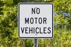 No Motor Vehicles Sign Royalty Free Stock Photography