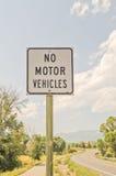 No Motor Vehicles Sign Stock Photos