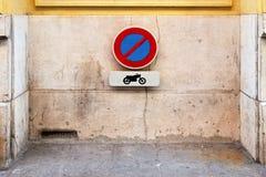 No motorcycle Royalty Free Stock Photo