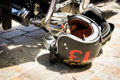 No. 13 Motorcycle Helmet Royalty Free Stock Photos