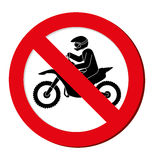 No motorcycle prohibition sign design Stock Photography
