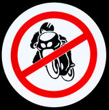 No motorcycle sign Royalty Free Stock Images