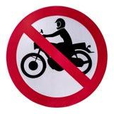 No motorcycle sign. Stock Photos