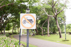 No motorcycle sign Stock Photography
