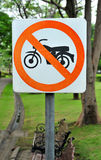 No Motorcycle sign royalty free stock photos