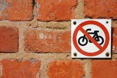 No motorcycles Royalty Free Stock Image