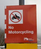 No motorcycling Stock Photography