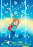 No mundo do Internet ilustração royalty free