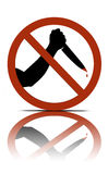 No murder allowed Royalty Free Stock Images