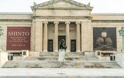 No museu de arte de Front Steps Of The Cleveland imagem de stock royalty free