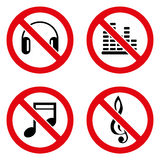 No music icon great for any use. Vector EPS10. Royalty Free Stock Images