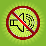 No music sign. In green retro background eps Stock Image