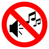 No music sign Stock Photography