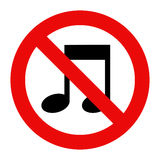 No music sign Stock Images