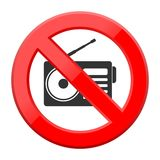 No music sign Royalty Free Stock Image