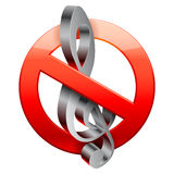No music sign. Royalty Free Stock Image