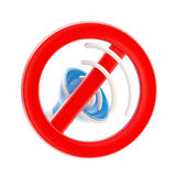 No music or sound mute sign isolated Stock Image