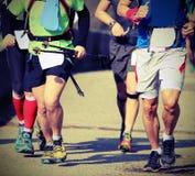 nożna rasa z biegaczami Fotografia Royalty Free