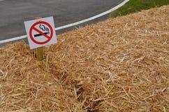No naked flame warning sign. Stock Photos