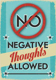 No Negative Thoughts Allowed Royalty Free Stock Photo