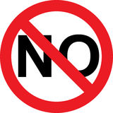 No negativity sign. No negativity allowed sign on a white background Stock Photo
