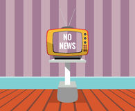 No news - vector drawing of a TV SET with no-news screen. Stock Photos