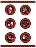 no nie symbole Zdjęcia Stock