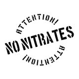No Nitrates rubber stamp Royalty Free Stock Image