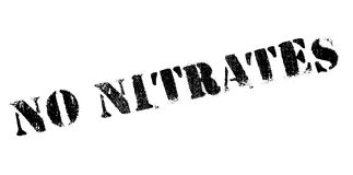 No Nitrates rubber stamp Royalty Free Stock Photography