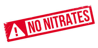 No Nitrates rubber stamp Stock Photos