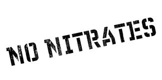 No Nitrates rubber stamp Stock Photo