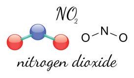 NO2 nitrogen dioxide molecule Royalty Free Stock Image