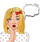 NO! NO! bąbla wystrzału sztuki blond biały tło ilustracja wektor