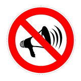 No noise allowed Royalty Free Stock Image