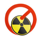 No/not sign atom Stock Photography