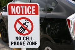 No note ninguna muestra de la zona del teléfono celular Imagenes de archivo