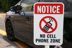 No note ninguna muestra de la zona del teléfono celular Fotografía de archivo
