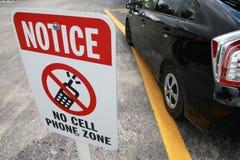 No note ninguna muestra de la zona del teléfono celular Imagen de archivo