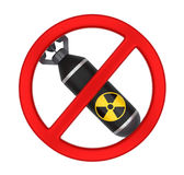 No Nuclear Bomb Sign Isolated Stock Image