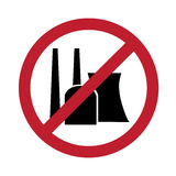 No nuclear power. Sign against nuclear power, illustration Stock Image